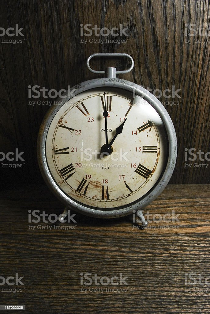 Antique Old Clock Yearn,1863 stock photo