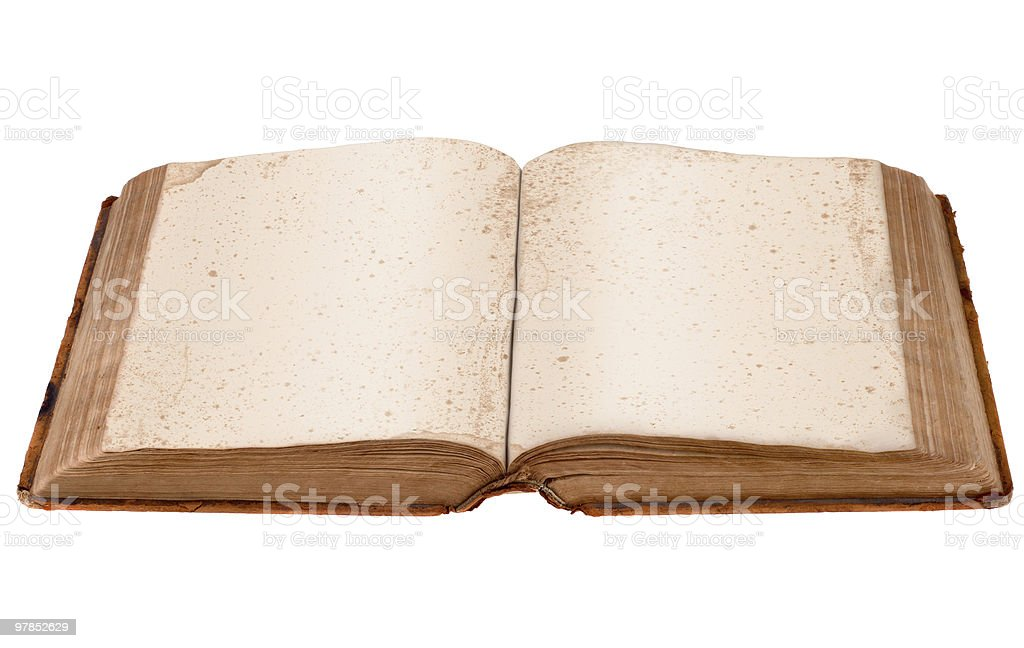 Antique Open Book royalty-free stock photo