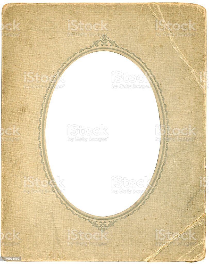 Antique oval frame stock photo