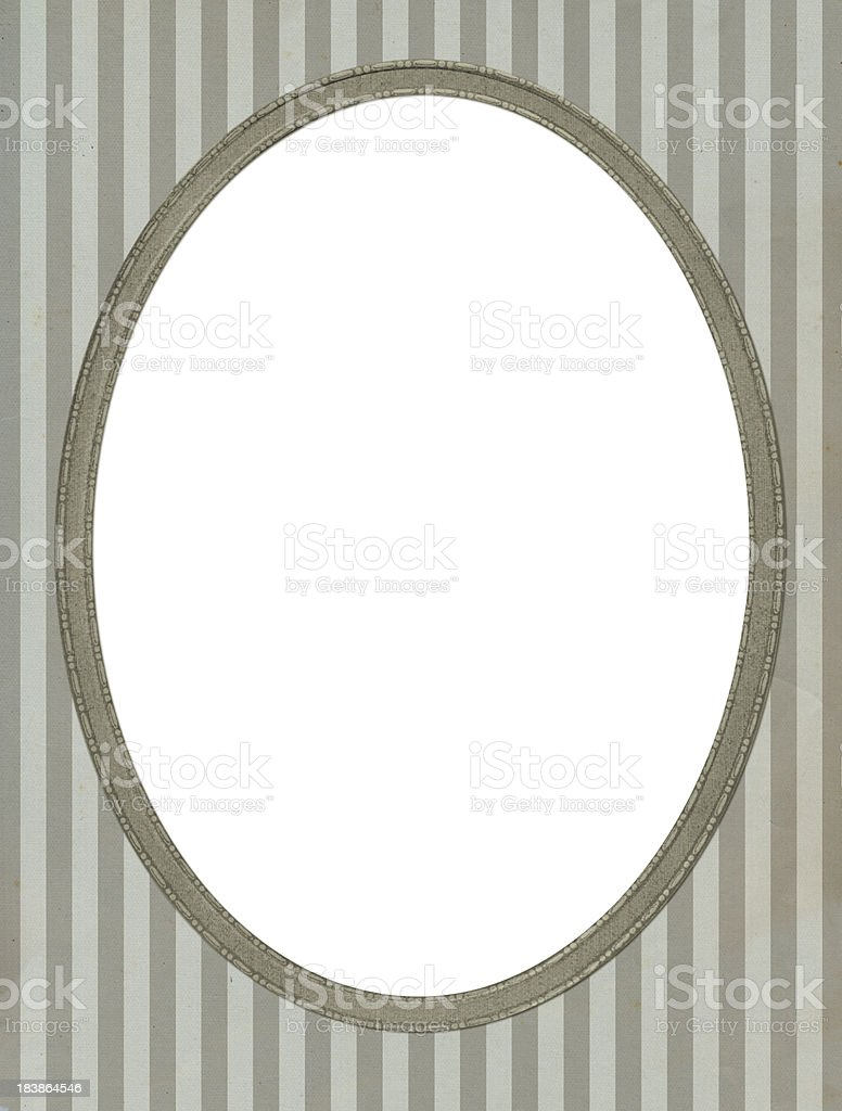 Antique oval frame royalty-free stock photo