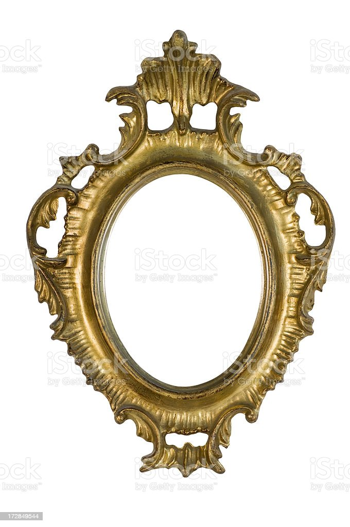 Antique Oval Mirror Frame royalty-free stock photo
