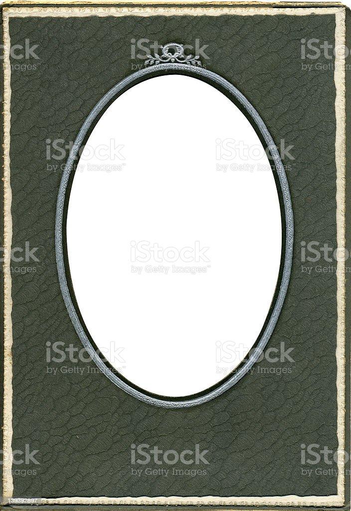Antique oval photo frame stock photo