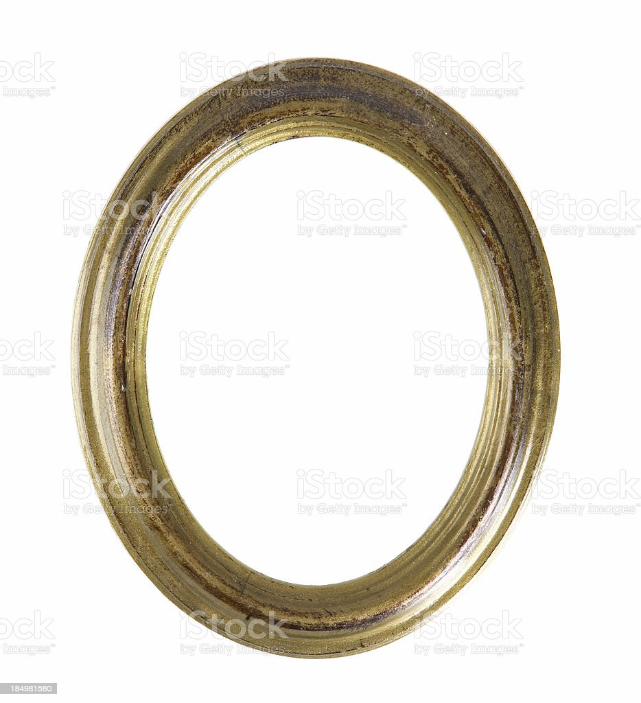 Antique Oval Picture Frame stock photo