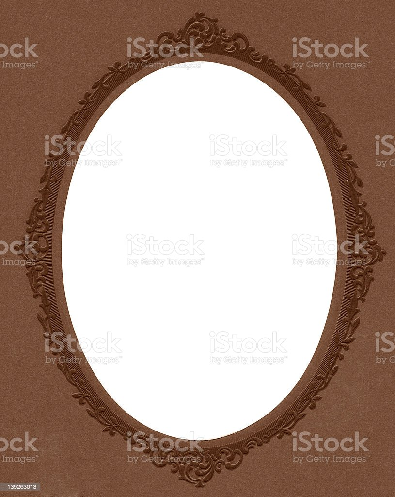 Antique Oval Picture or Mirror Frame royalty-free stock photo