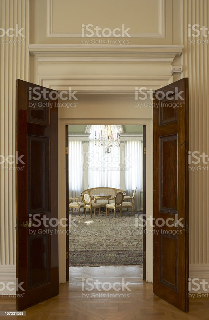 Antique Palace Door stock photo