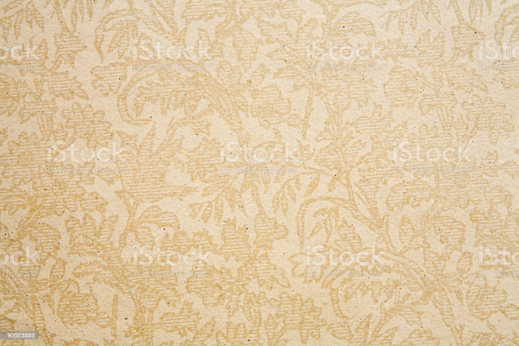 Antique Paper Found on Old Book Cover, Circa 1880 Beige royalty-free stock photo