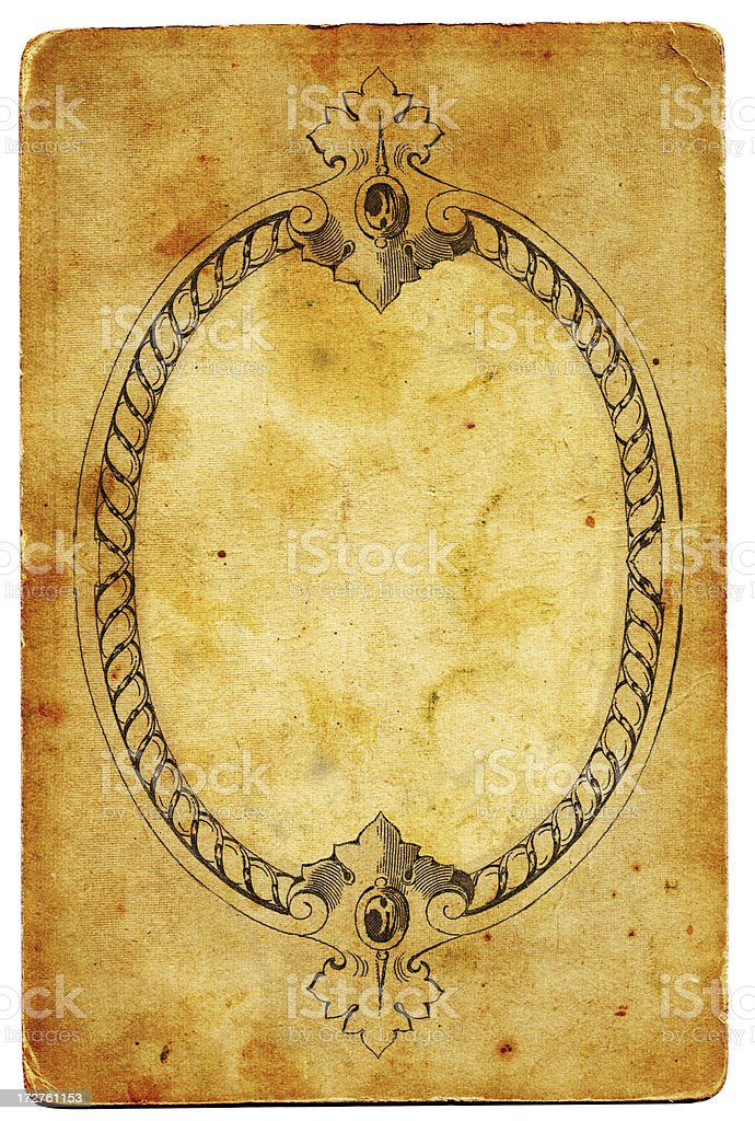 Antique paper frame XXL royalty-free stock photo