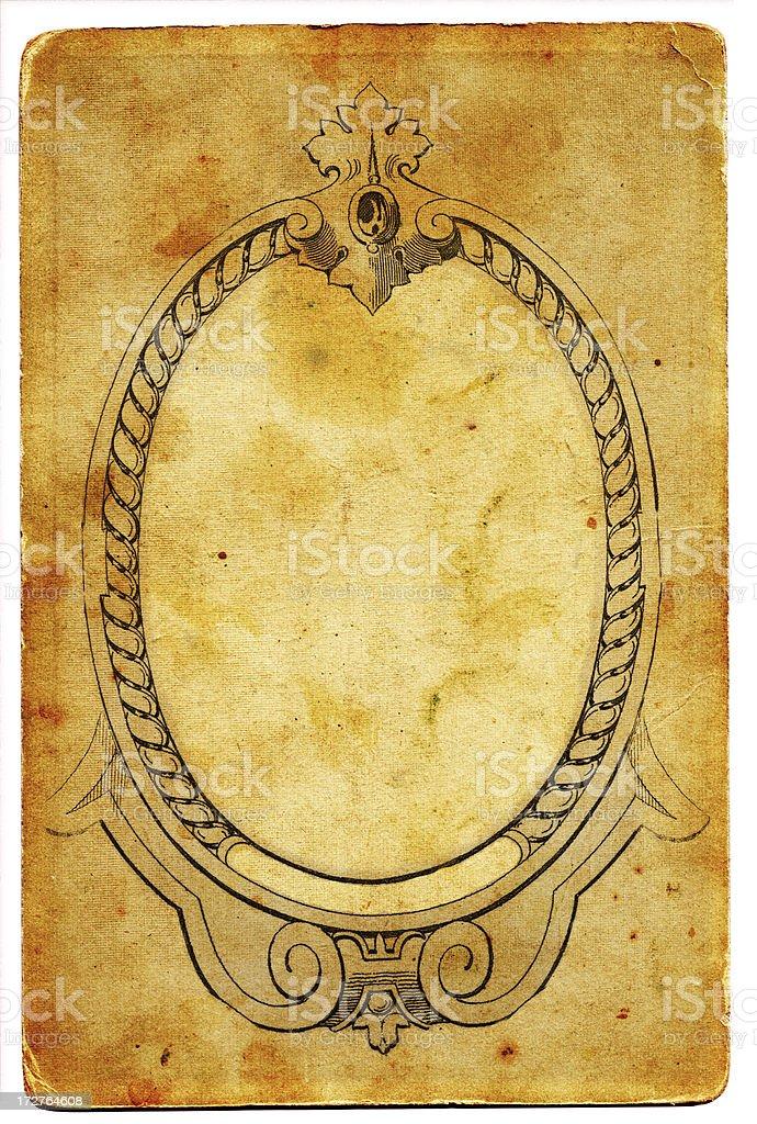 Antique paper frame XXL royalty-free stock photo