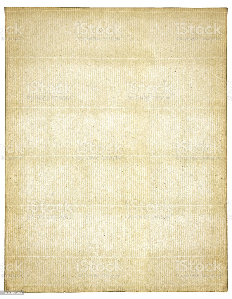 Antique paper isolated on white royalty-free stock photo