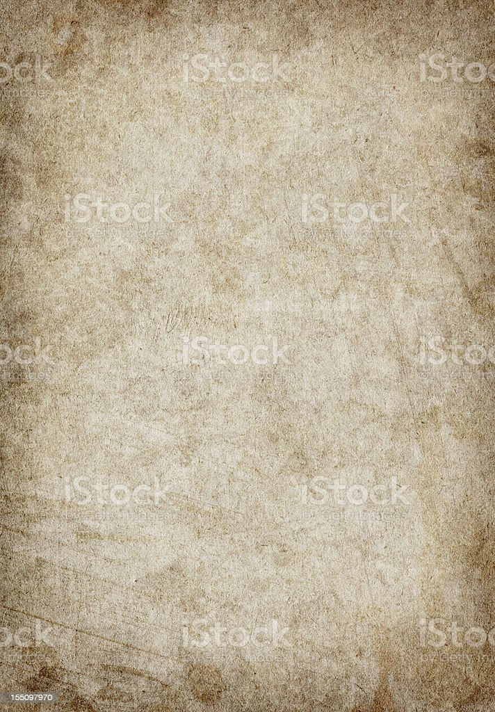 Antique Paper Mottled Vignette Grunge Texture royalty-free stock photo