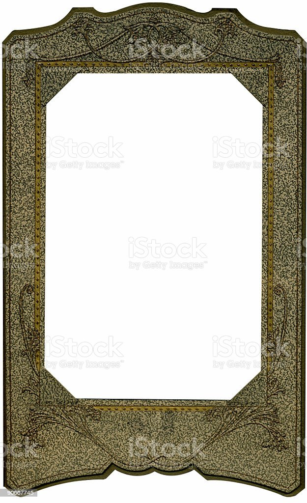 Antique paper studio frame royalty-free stock photo