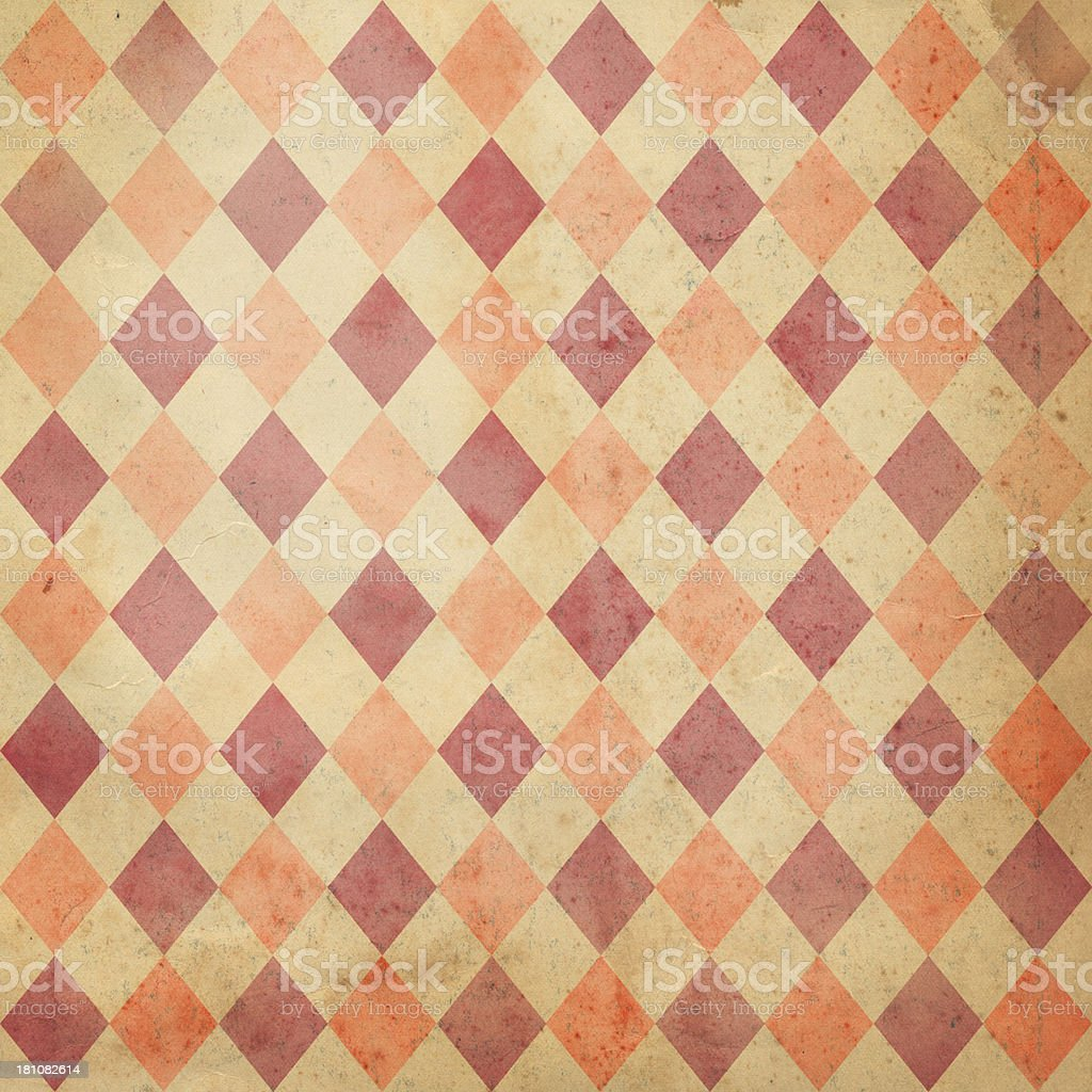 antique paper with diamond pattern stock photo
