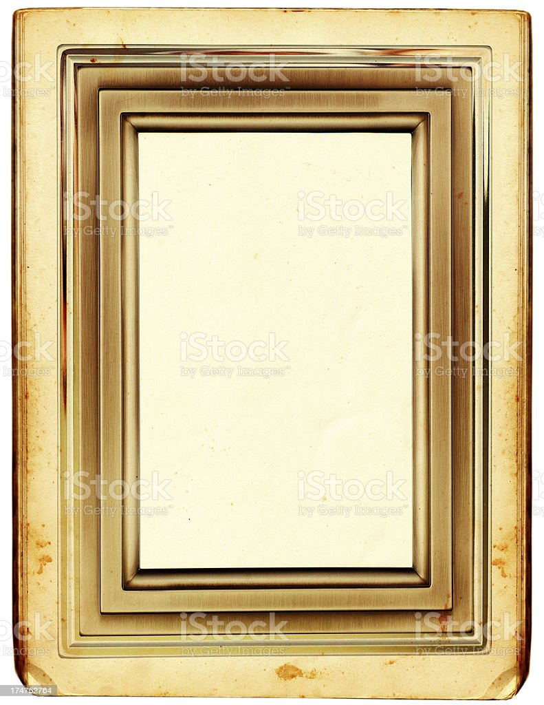 Antique paper with fancy border stock photo
