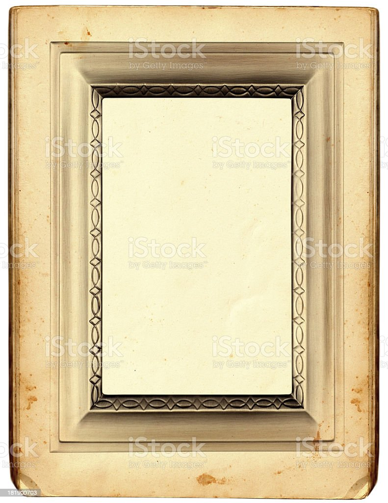 Antique paper with fancy border royalty-free stock photo