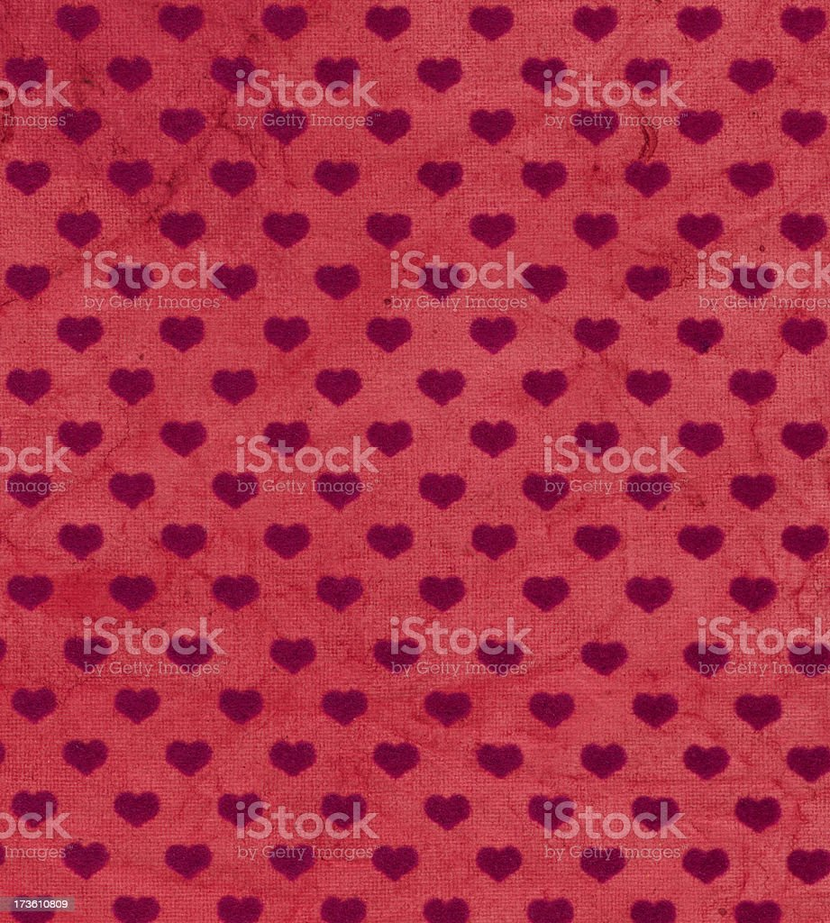 antique paper with heart shapes royalty-free stock photo