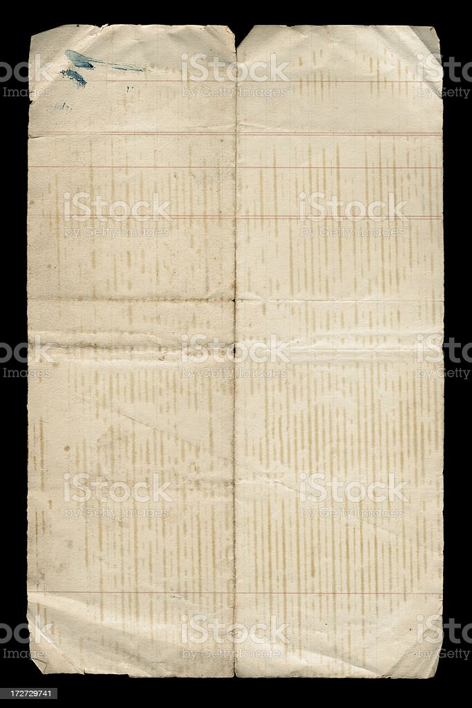 antique paper with marks royalty-free stock photo