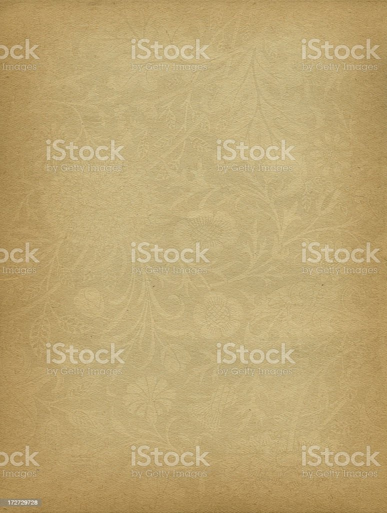 antique paper with scroll watermark stock photo