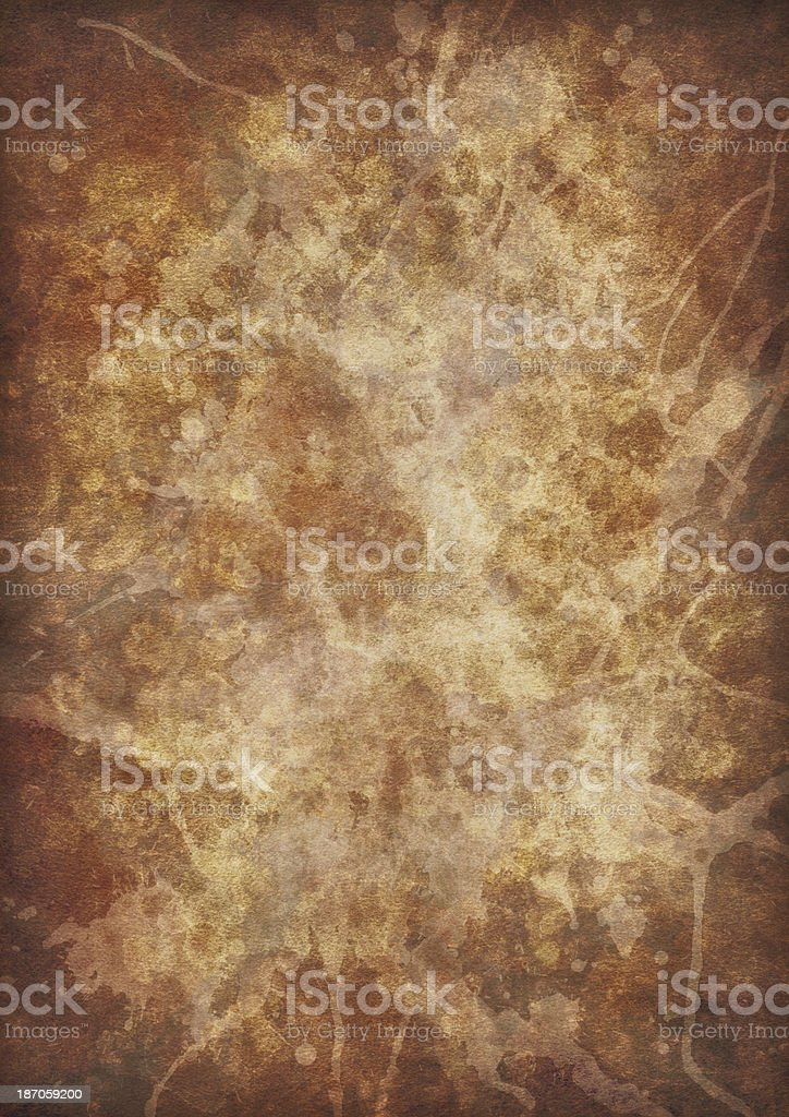 Antique Parchment Crumpled Blotted Vignette Grunge Texture royalty-free stock photo