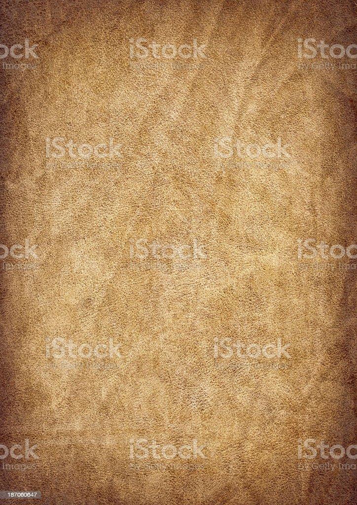 Antique Parchment Crumpled Vignette Grunge Texture stock photo