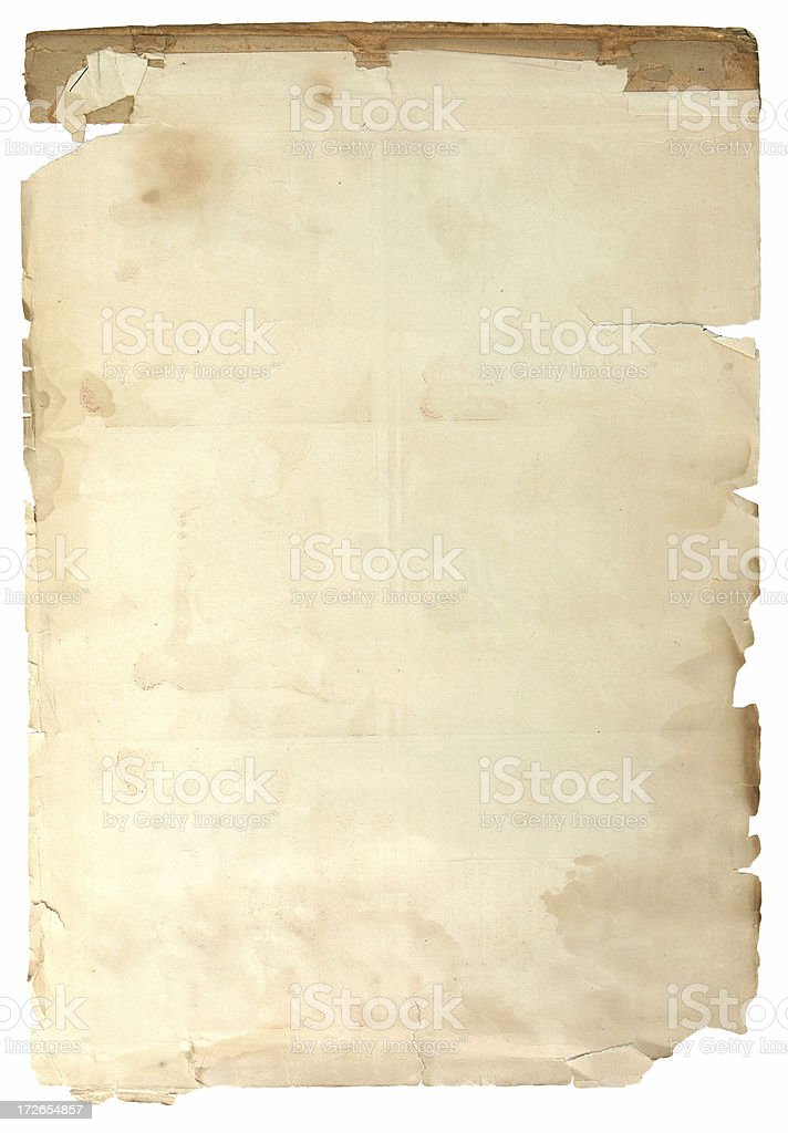 Antique Parchment Paper royalty-free stock photo