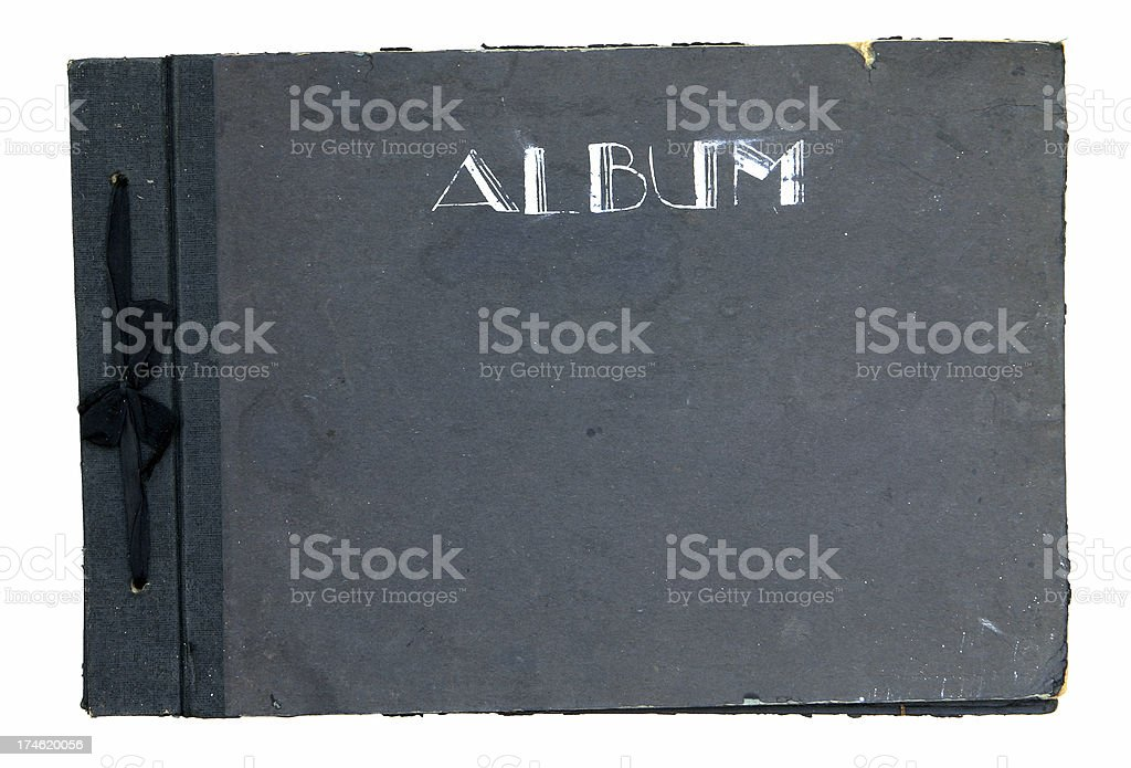Antique Photo Album with Ribbon royalty-free stock photo