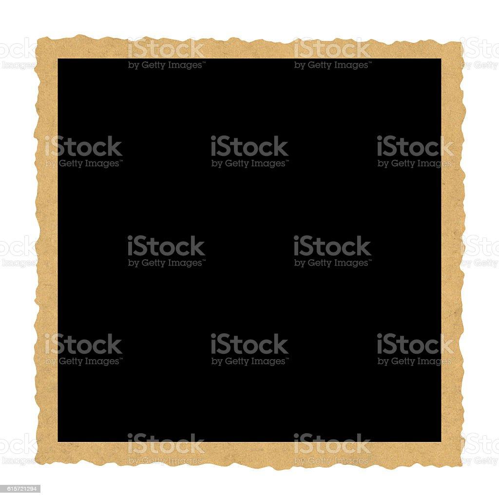 Antique photo frame, isolated on white background stock photo