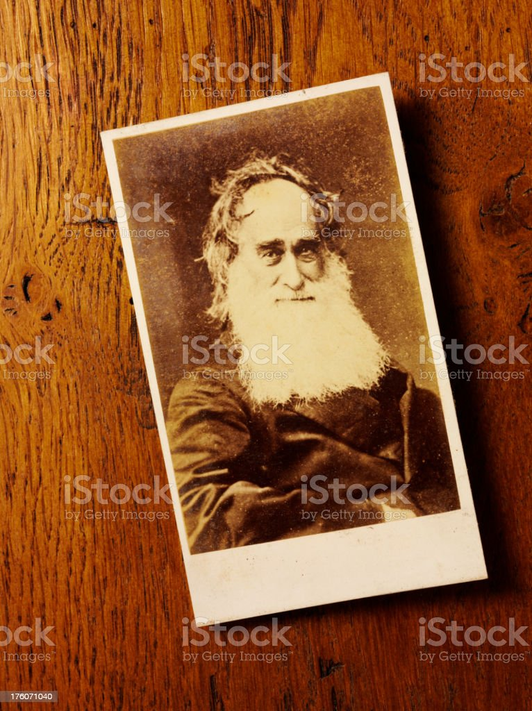 Antique Photograph of a Gentleman with Beard royalty-free stock photo