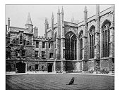 Antique photograph of All Souls College (Oxford University,England)-19th century