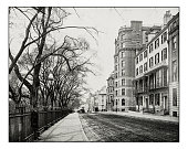Antique photograph of Beacon Street, Boston