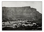 Antique photograph of Cape Town Table Mountain