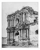 Antique photograph of Carmen Church Ruins, Guatemala