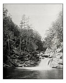 Antique photograph of Devil's pool, White mountains, New Hampshire
