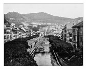 Antique photograph of Karlovy Vary or Carlsbad (Czech Republic)-19th century