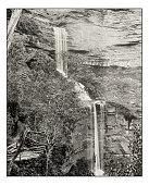 Antique photograph of Katoomba Falls