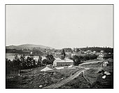 Antique photograph of Lake Placid