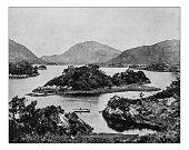Antique photograph of Lakes of Killarney (County Kerry, Ireland)-19th century