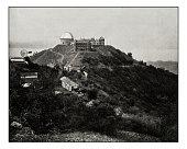 Antique photograph of Lick Observatory, Mount Hamilton, San Jose, California