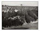 Antique photograph of Niagara cantilever bridge