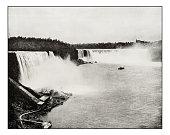 Antique photograph of Niagara Falls