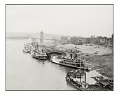 Antique photograph of Ohio River in Cincinnati