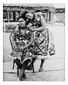 Antique photograph of Samoan Girls - World's Columbian Exposition,Chicago-1893