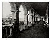 Antique photograph of Santa Barbara mission