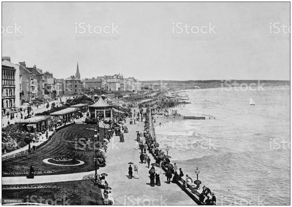 Antique photograph of seaside towns of Great Britain and Ireland: Bridlington stock photo