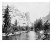 Antique photograph of South Dome, Yosemite Valley