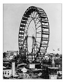 Antique photograph of the Ferris wheel -World's Columbian Exposition,Chicago-1893