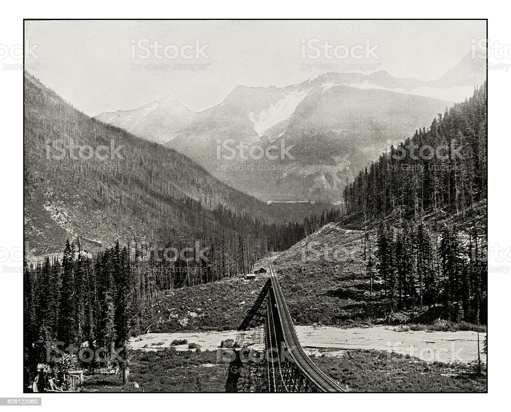 Antique photograph of the Loop Valley stock photo
