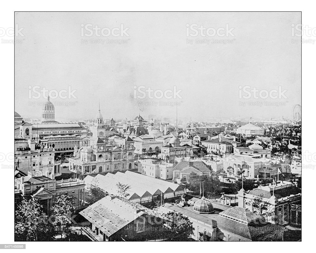 Antique photograph of World's Columbian Exposition (Chicago,USA) - 1893 stock photo