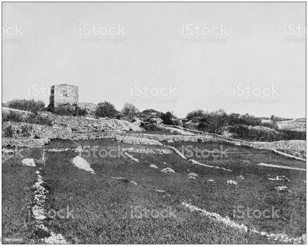 Antique photographs of Holy Land, Egypt and Middle East: Bethel stock photo