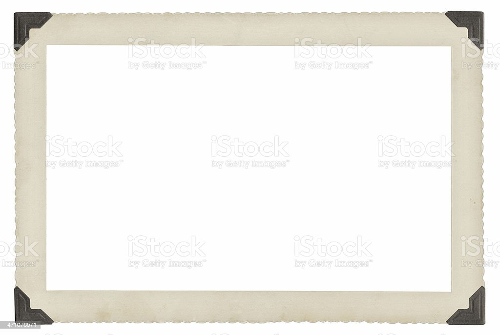 Antique photography border royalty-free stock photo