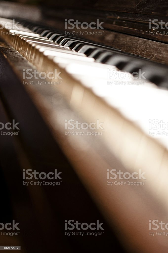 Antique Piano Keys abstract Background stock photo